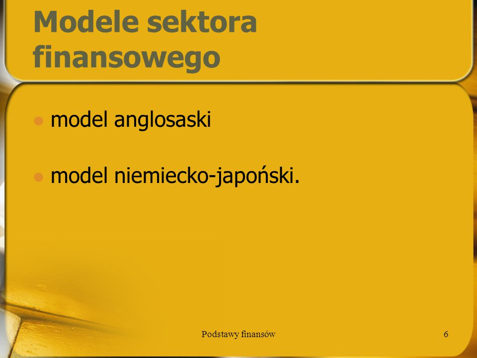 Modele sektora finansowego