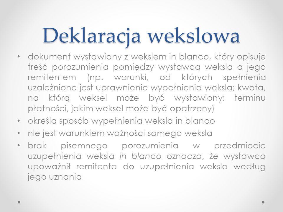 Deklaracja wekslowa
