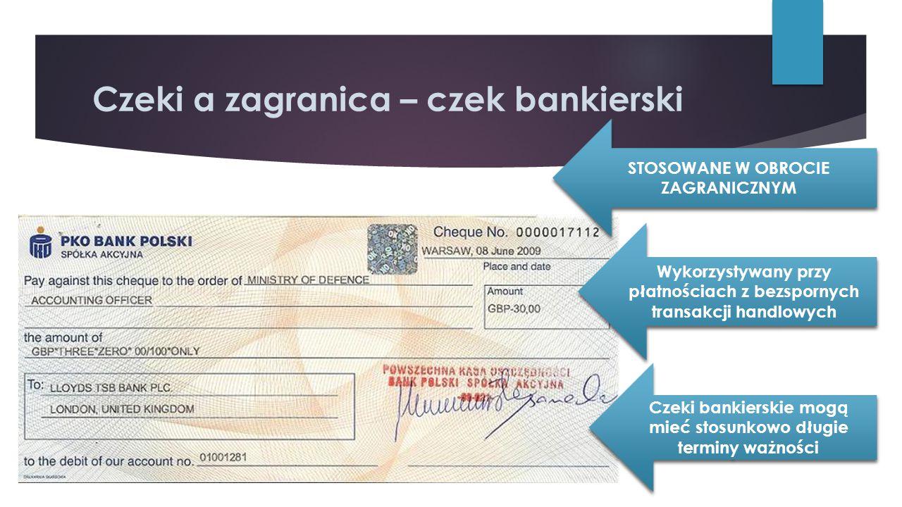 Czeki a zagranica – czek bankierski