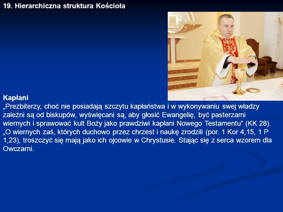 19. Hierarchiczna struktura Kościoła