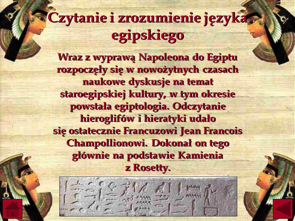 Czytanie i zrozumienie języka egipskiego