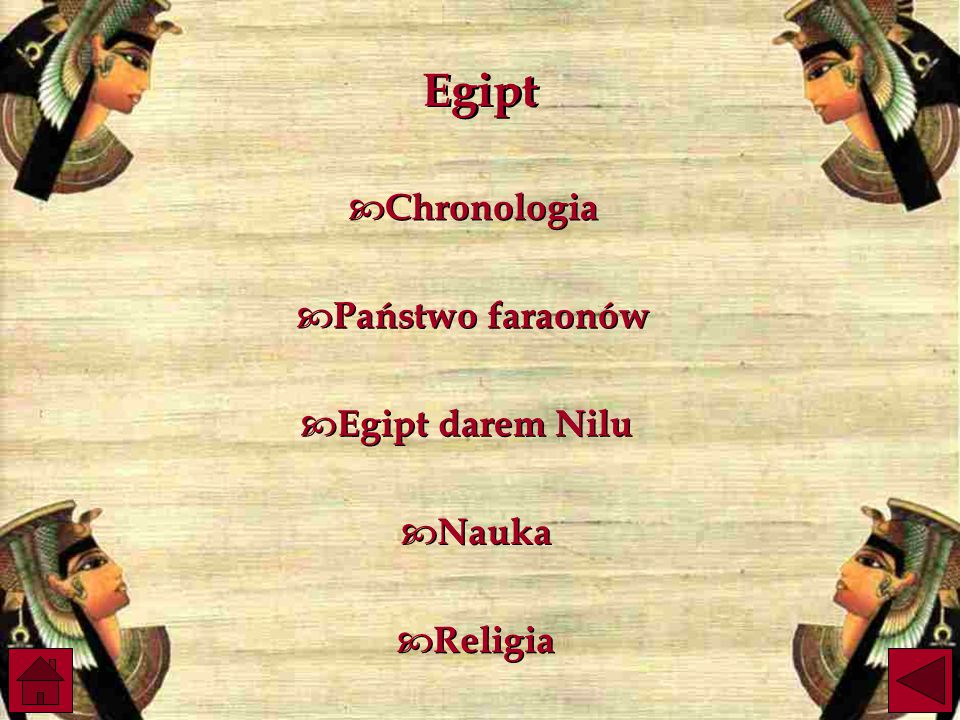 Egipt Chronologia Państwo faraonów Egipt darem Nilu Nauka Religia
