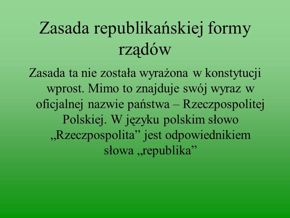 Zasada republikańskiej formy rządów
