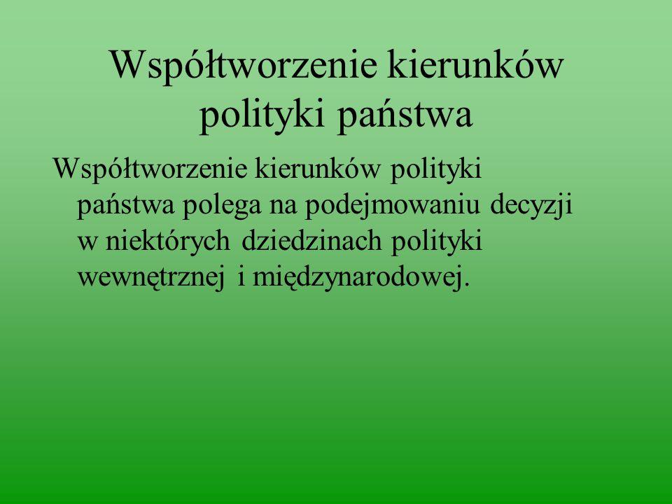 Współtworzenie kierunków polityki państwa