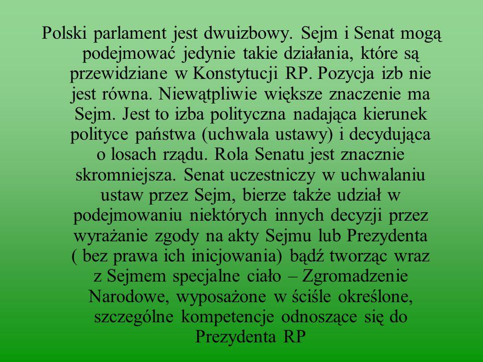Polski parlament jest dwuizbowy