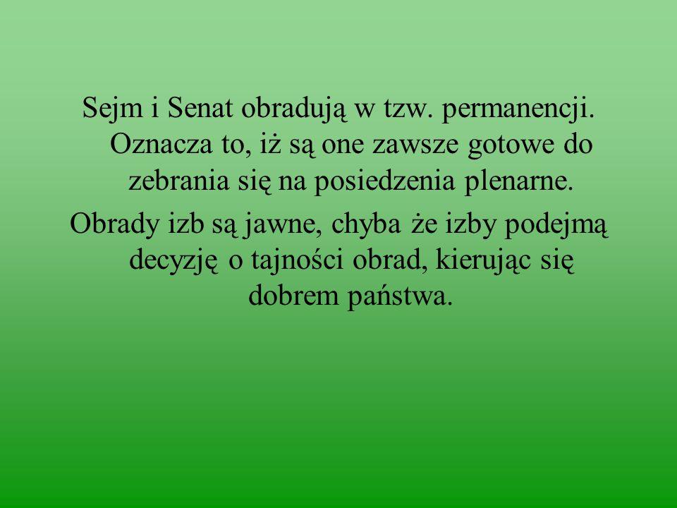 Sejm i Senat obradują w tzw. permanencji
