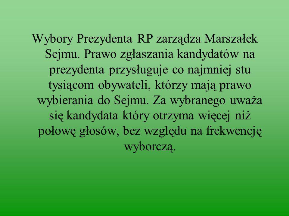 Wybory Prezydenta RP zarządza Marszałek Sejmu