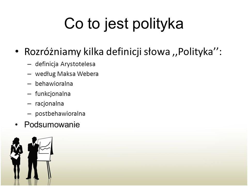 Co to jest polityka Rozróżniamy kilka definicji słowa ,,Polityka'':