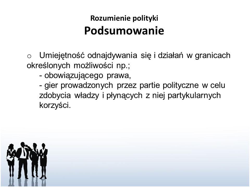 Rozumienie polityki Podsumowanie