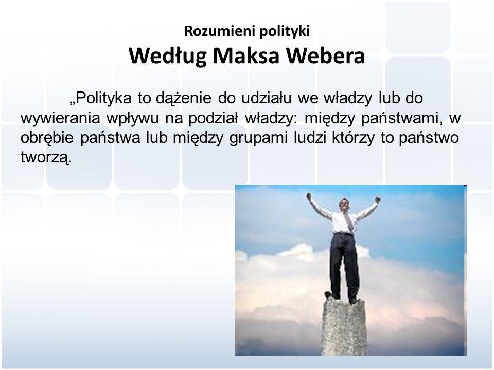 Rozumieni polityki Według Maksa Webera