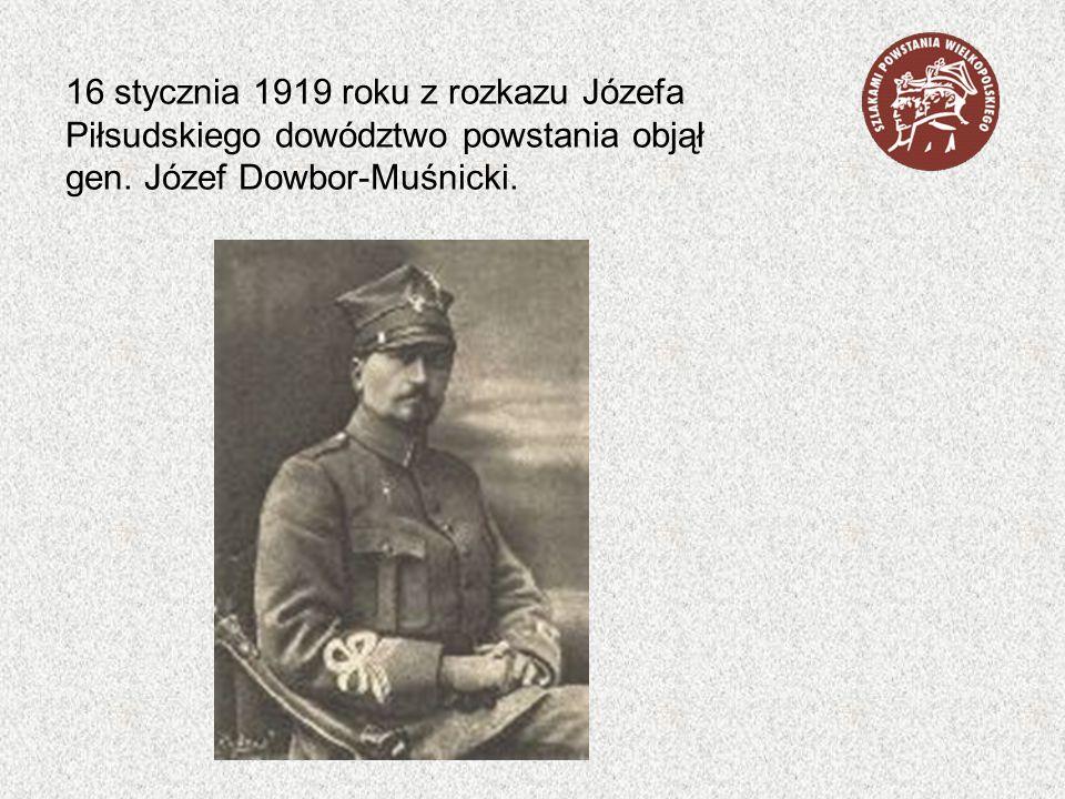 16 stycznia 1919 roku z rozkazu Józefa Piłsudskiego dowództwo powstania objął gen.