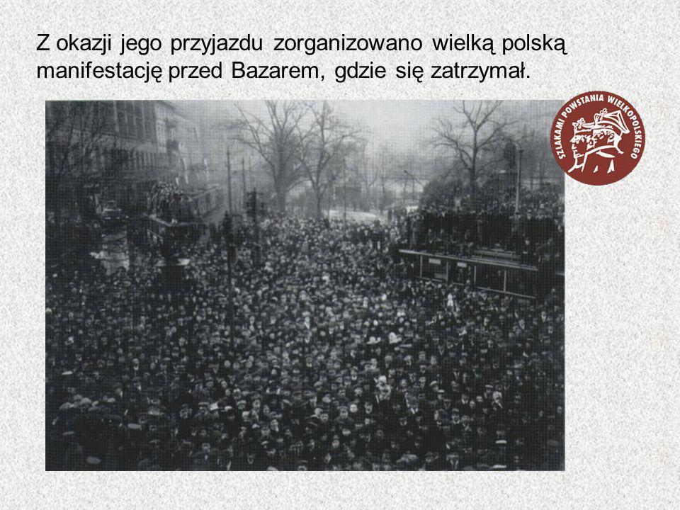 Z okazji jego przyjazdu zorganizowano wielką polską