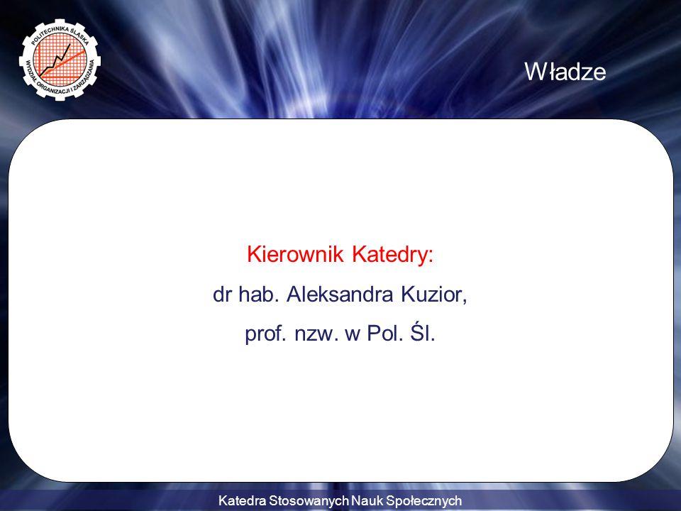 dr hab. Aleksandra Kuzior,