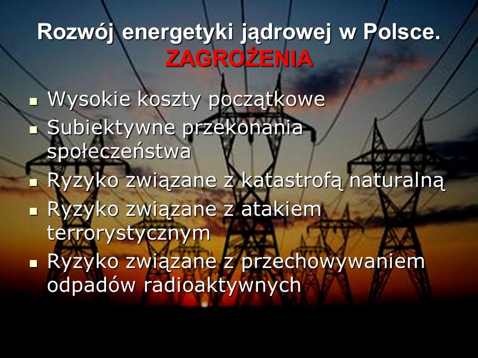 Rozwój energetyki jądrowej w Polsce. ZAGROŻENIA