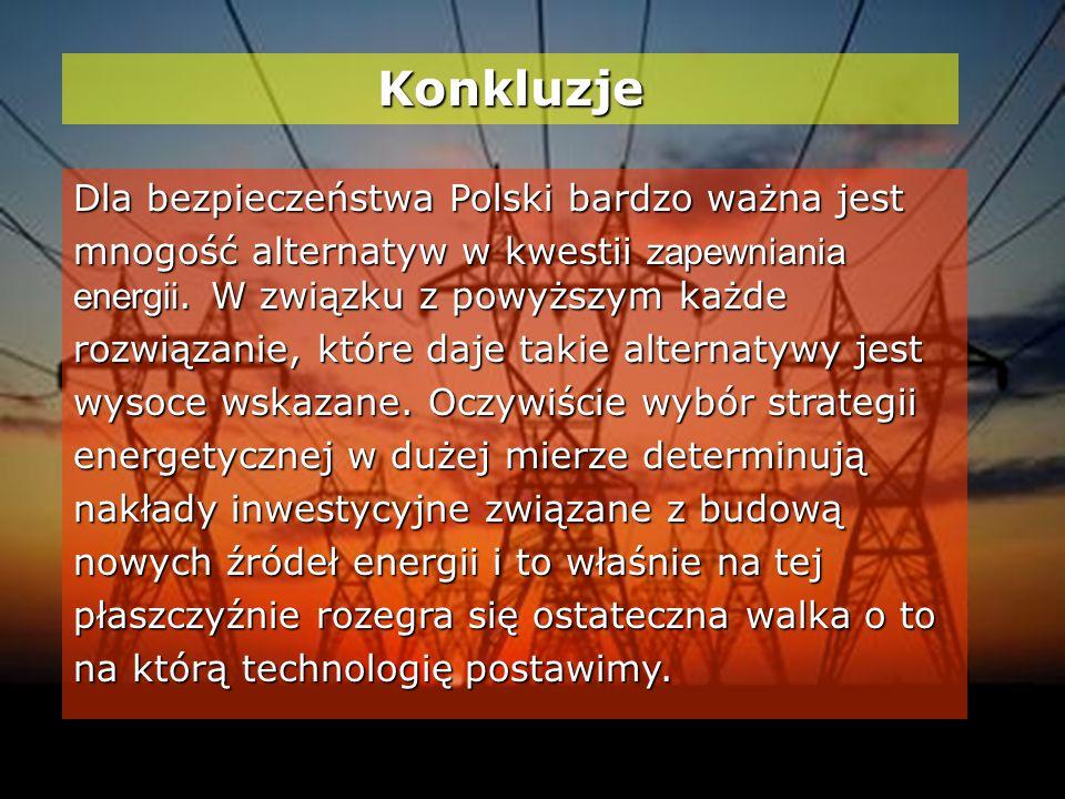 Konkluzje Dla bezpieczeństwa Polski bardzo ważna jest