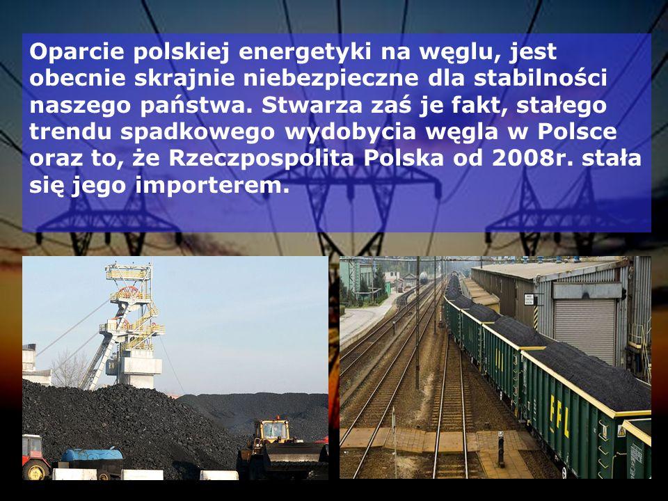Oparcie polskiej energetyki na węglu, jest obecnie skrajnie niebezpieczne dla stabilności naszego państwa.