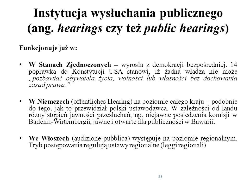 Instytucja wysłuchania publicznego (ang