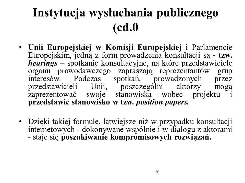 Instytucja wysłuchania publicznego (cd.0