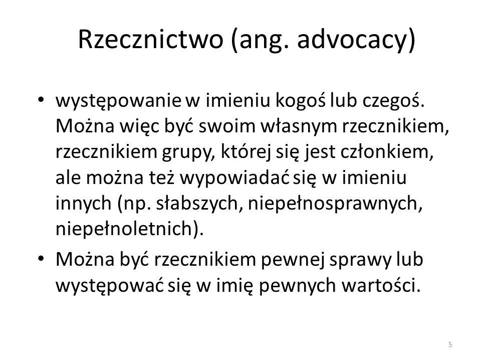 Rzecznictwo (ang. advocacy)