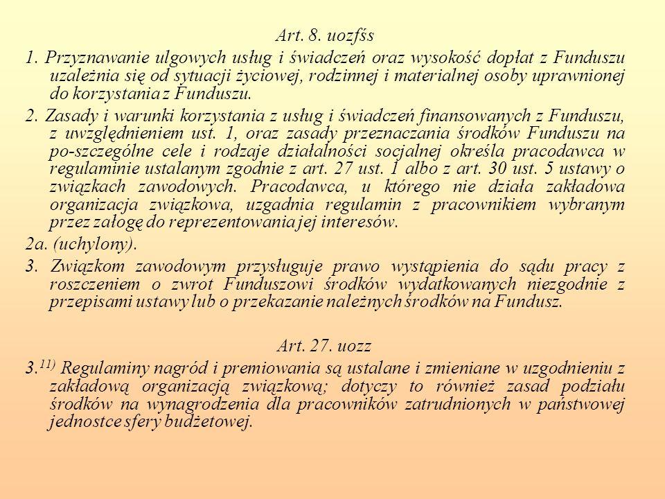 Art. 8. uozfśs