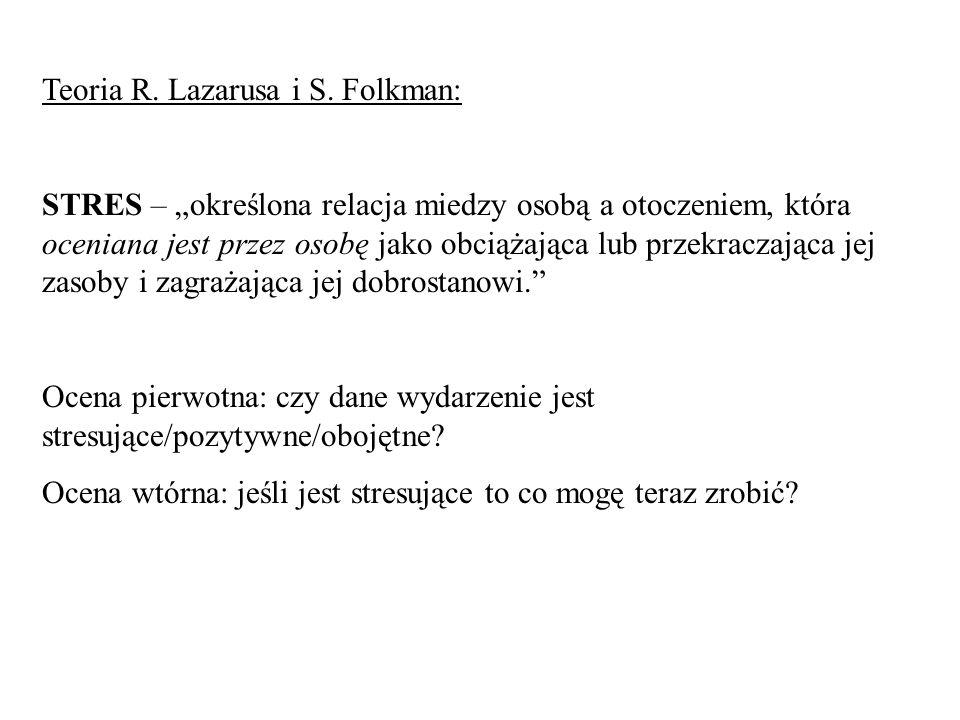 Teoria R. Lazarusa i S. Folkman:
