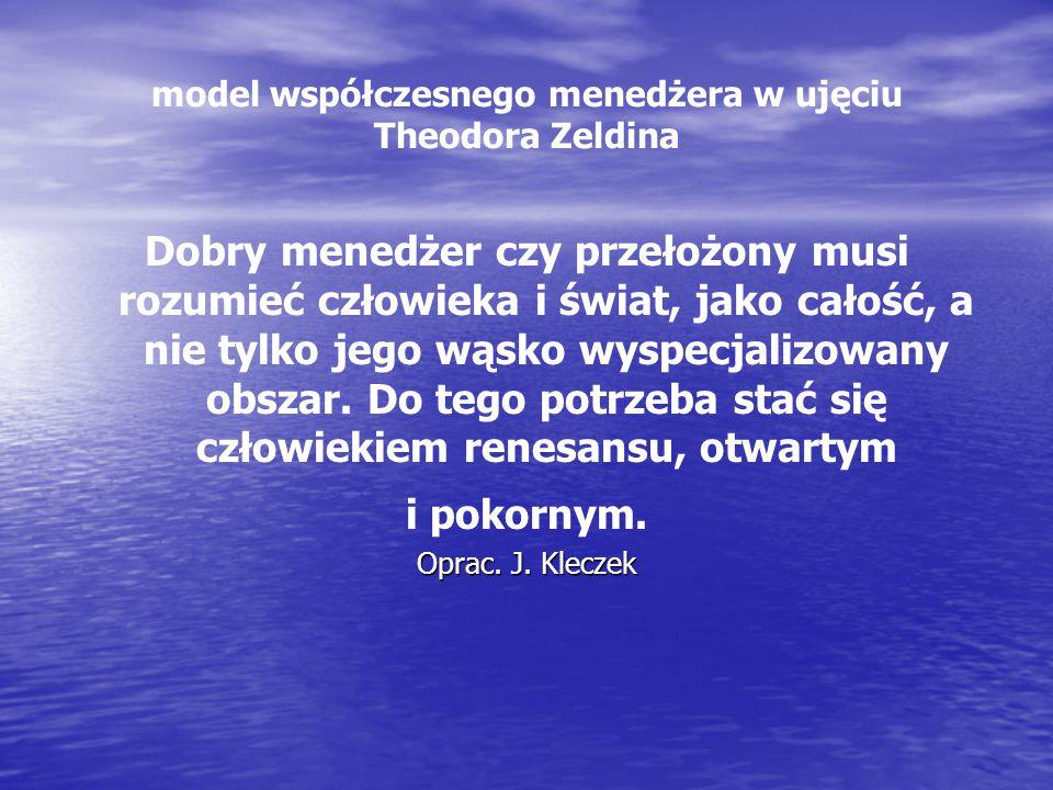 model współczesnego menedżera w ujęciu Theodora Zeldina