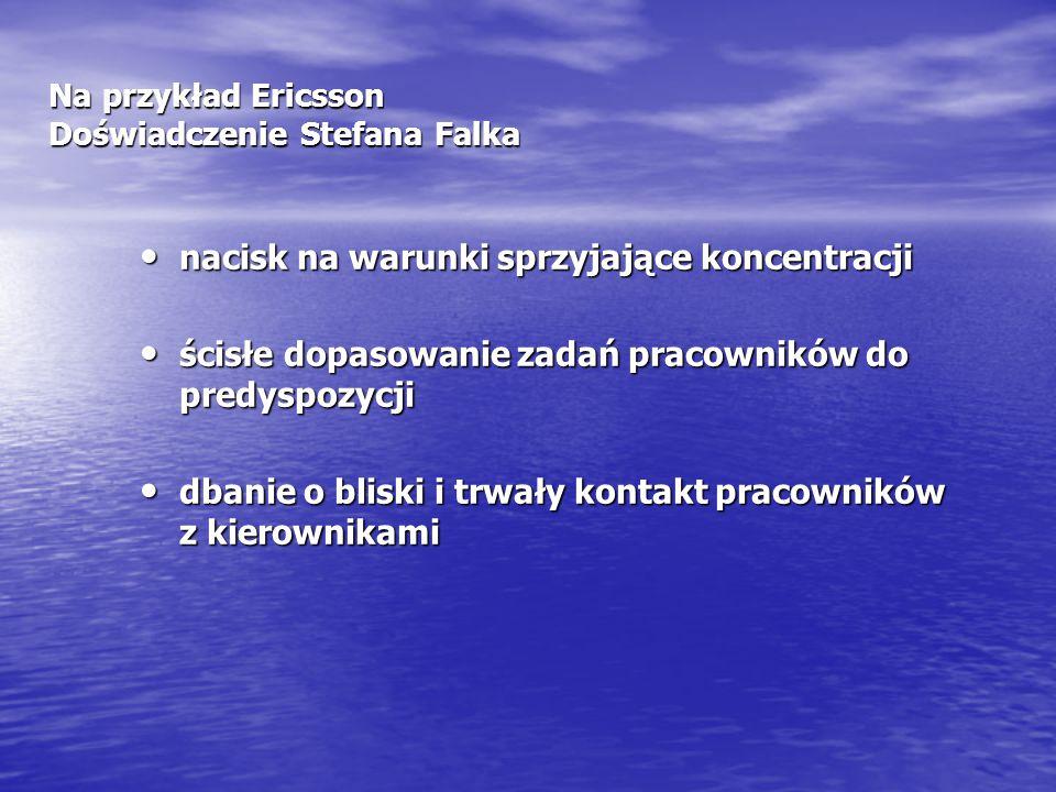 Na przykład Ericsson Doświadczenie Stefana Falka