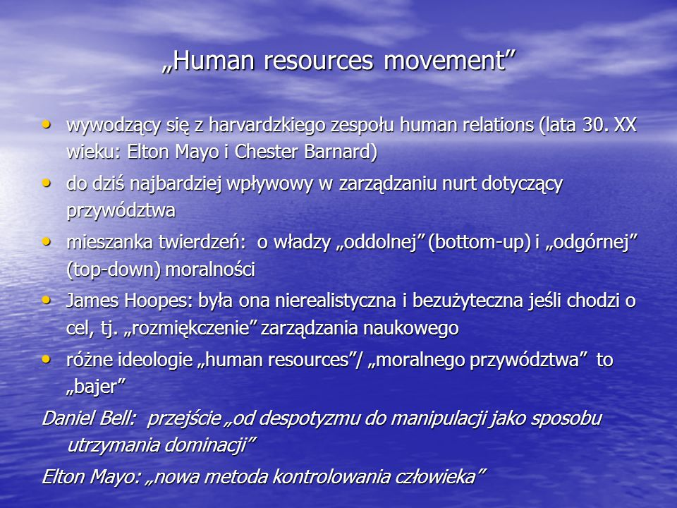 """Human resources movement"