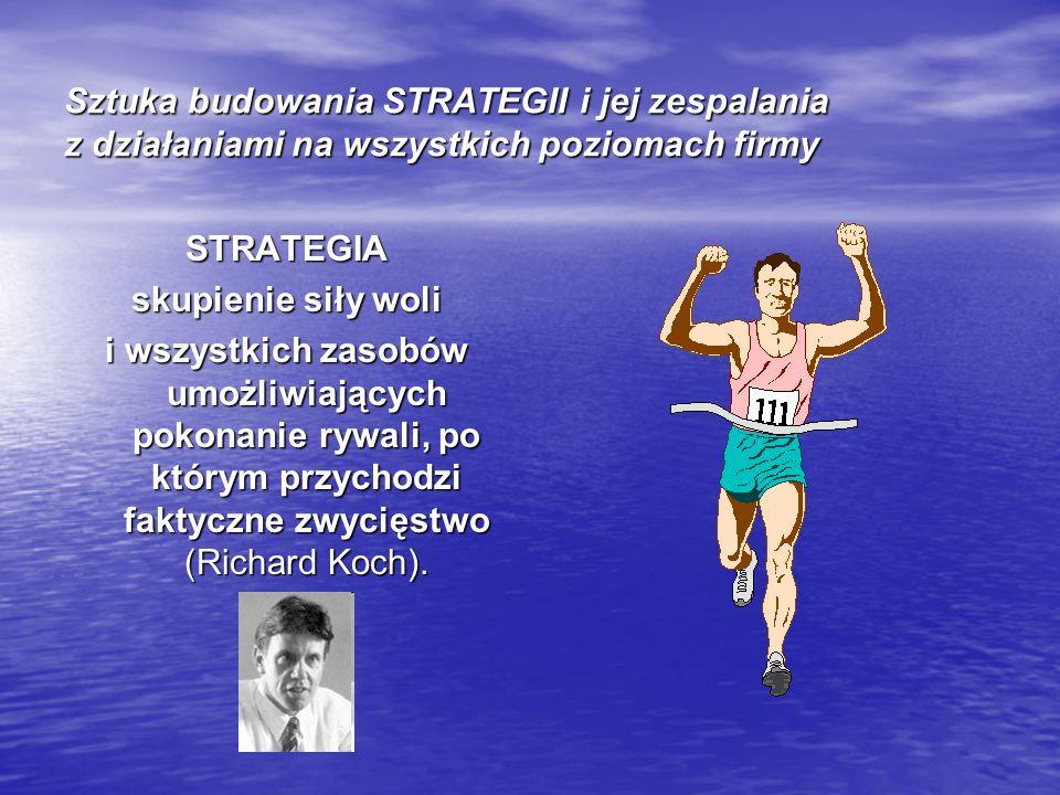Sztuka budowania STRATEGII i jej zespalania z działaniami na wszystkich poziomach firmy