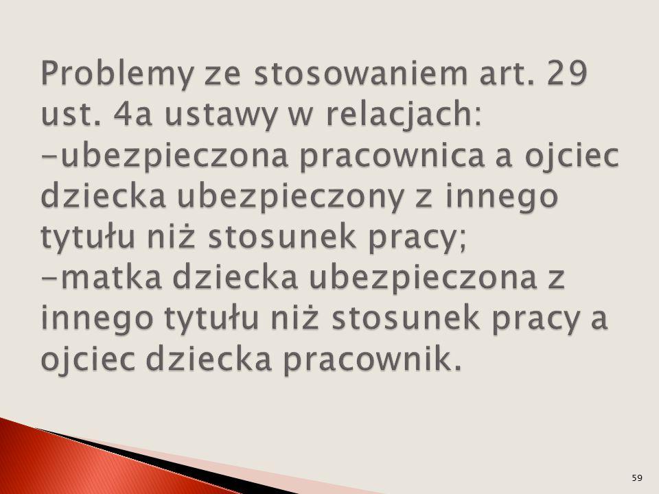 Problemy ze stosowaniem art. 29 ust