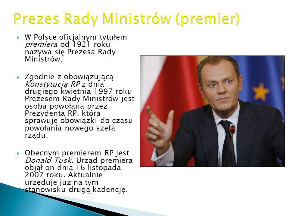 Prezes Rady Ministrów (premier)
