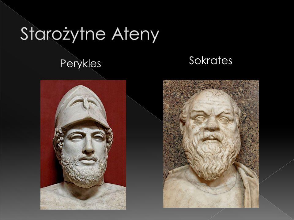 Starożytne Ateny Sokrates Perykles