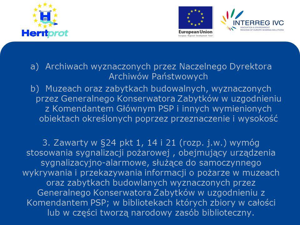 Archiwach wyznaczonych przez Naczelnego Dyrektora Archiwów Państwowych