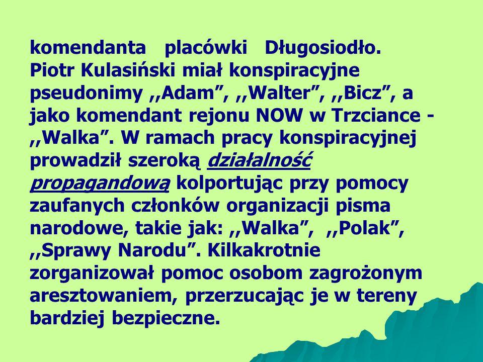 komendanta placówki Długosiodło.