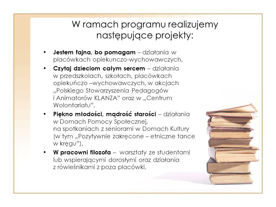 W ramach programu realizujemy następujące projekty: