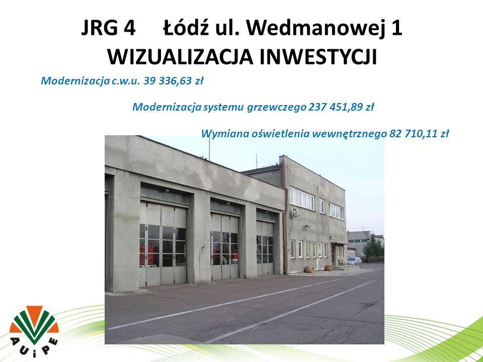 JRG 4 Łódź ul. Wedmanowej 1 WIZUALIZACJA INWESTYCJI