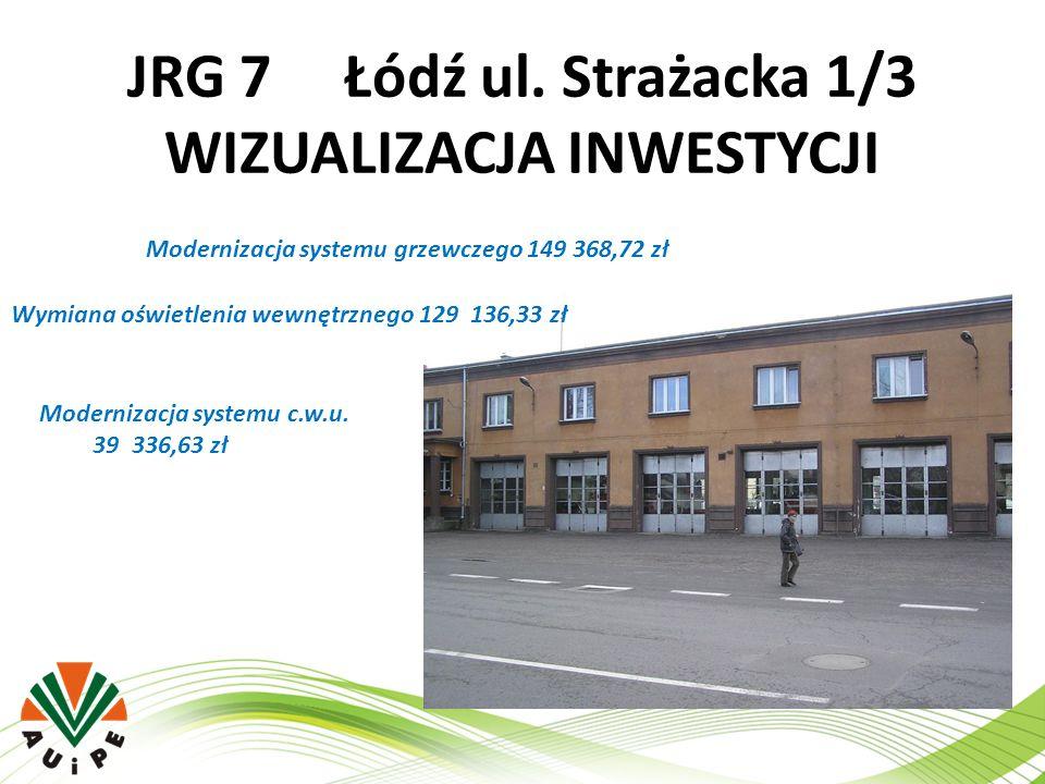 JRG 7 Łódź ul. Strażacka 1/3 WIZUALIZACJA INWESTYCJI