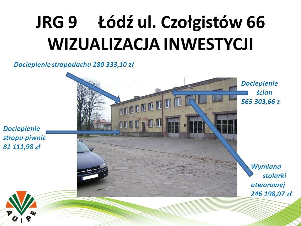 JRG 9 Łódź ul. Czołgistów 66 WIZUALIZACJA INWESTYCJI