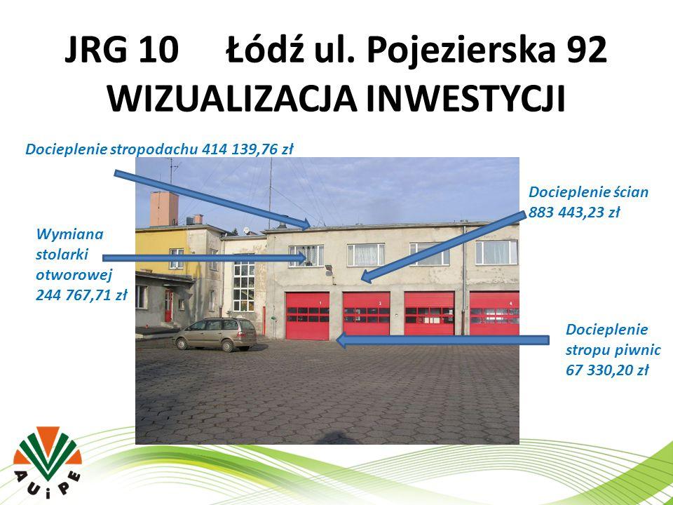 JRG 10 Łódź ul. Pojezierska 92 WIZUALIZACJA INWESTYCJI
