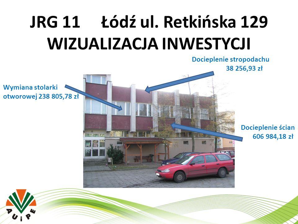 JRG 11 Łódź ul. Retkińska 129 WIZUALIZACJA INWESTYCJI