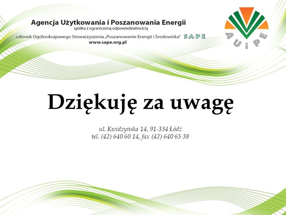 Dziękuję za uwagę ul. Kwidzyńska 14, 91-334 Łódź