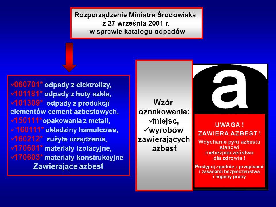 Rozporządzenie Ministra Środowiska w sprawie katalogu odpadów