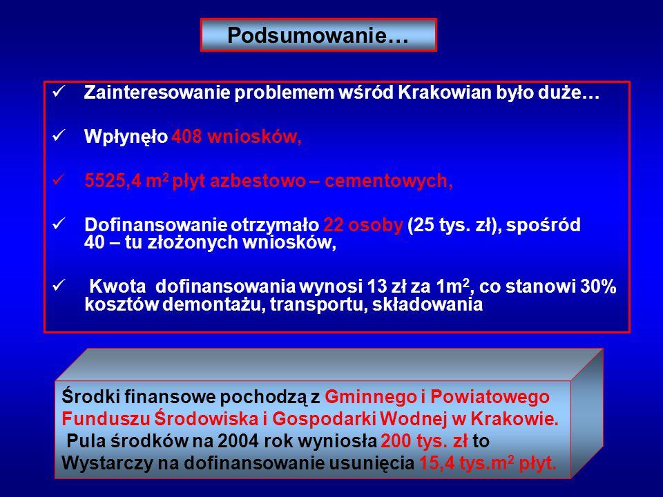 Podsumowanie… Zainteresowanie problemem wśród Krakowian było duże…