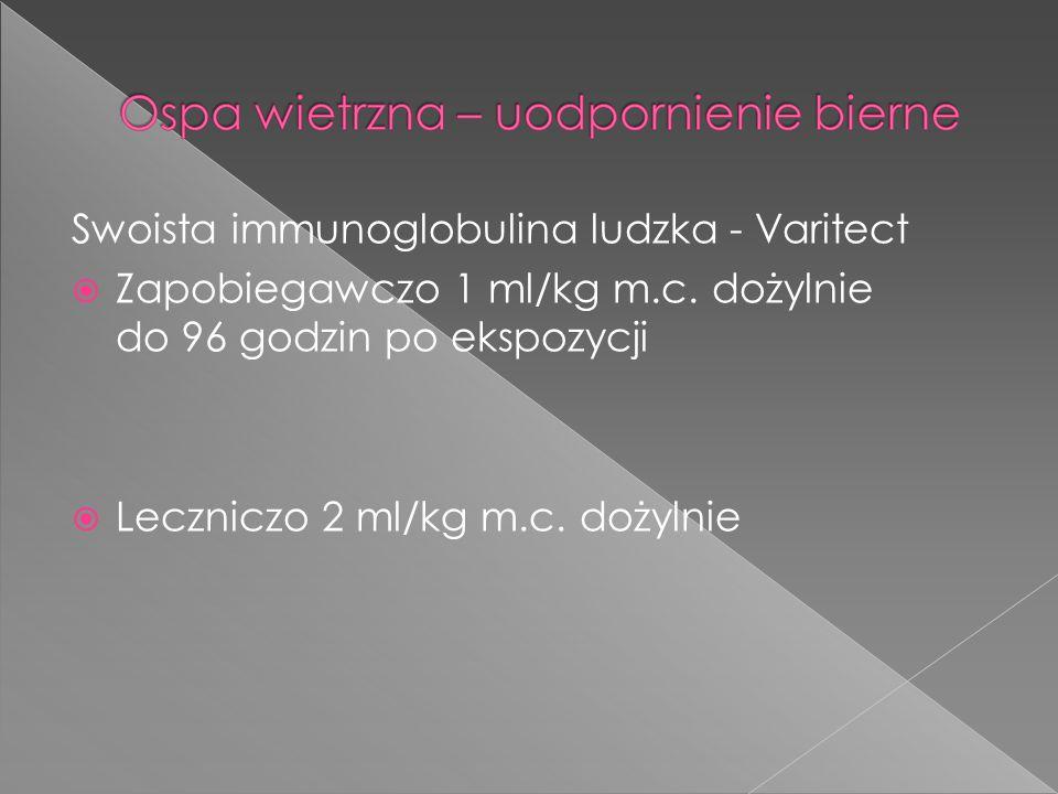 Swoista immunoglobulina ludzka - Varitect