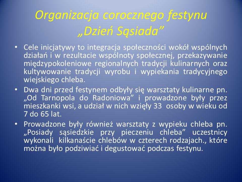 """Organizacja corocznego festynu """"Dzień Sąsiada"""