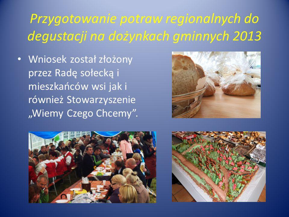 Przygotowanie potraw regionalnych do degustacji na dożynkach gminnych 2013