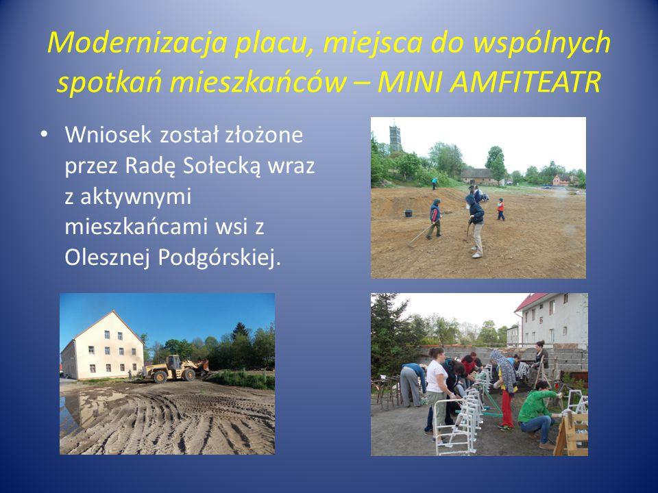 Modernizacja placu, miejsca do wspólnych spotkań mieszkańców – MINI AMFITEATR