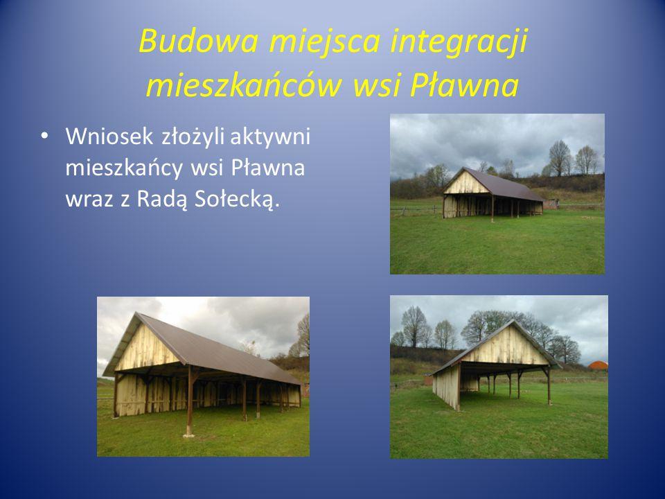 Budowa miejsca integracji mieszkańców wsi Pławna