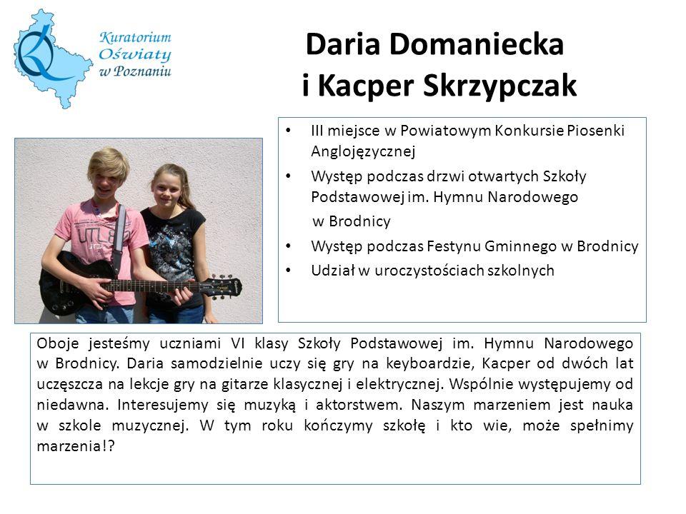 Daria Domaniecka i Kacper Skrzypczak