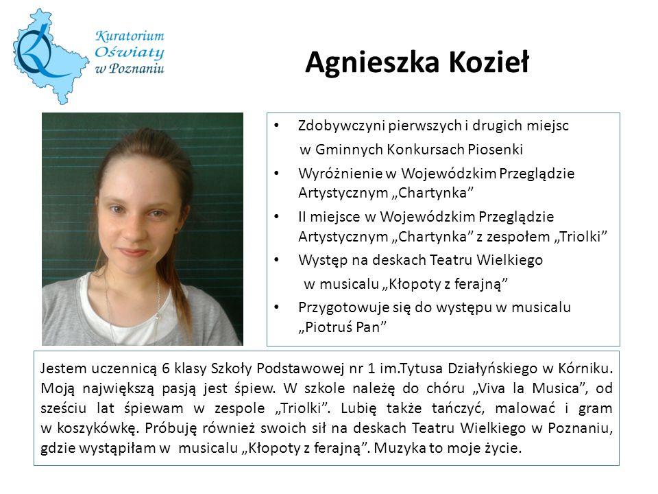 Agnieszka Kozieł Zdobywczyni pierwszych i drugich miejsc